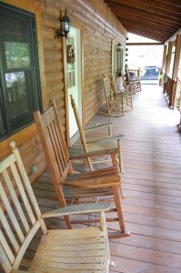Rocking Chairs Staff Cabin